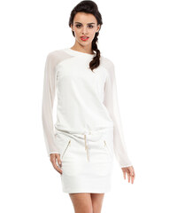 Smetanové šaty MOE 206