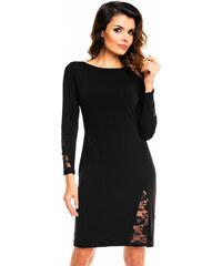 Awama Černé šaty A128