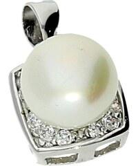 Goldstore Decentní stříbrný přívěsek s perlou