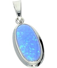 Goldstore Stříbrný přívěsek s oválným modrým opálem