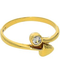 Goldstore Zlatý prsten zirkon briliantový brus