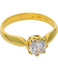 Goldstore Zlatý žlutý lesklý zásnubní prsten