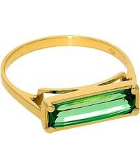 Goldstore Zlatý prsten obdélníkový smaragd