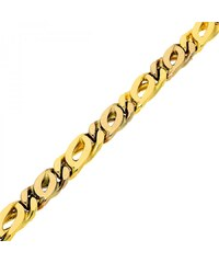 Goldstore Masivní zlatý náramek žluté a bílé zlato