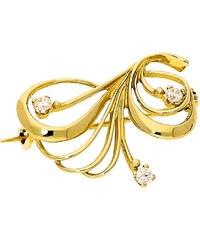 Goldstore Zlatá elegantní brož