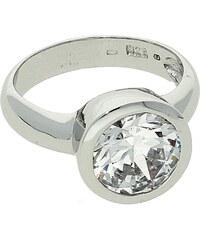 Goldstore Zásnubní prsten stříbro zirkon broušený