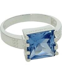 Goldstore Stříbrný masivní prsten s akvamarínem