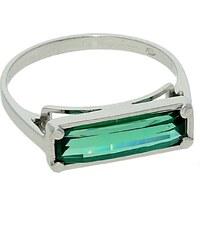 Goldstore Stříbrný prsten s obdélníkovým smaragdem