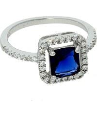Goldstore Stříbrný prsten s čtvercovým safírem