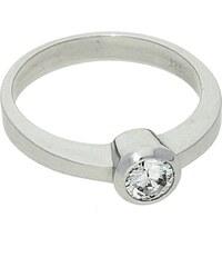 Goldstore Zásnubní stříbrný prsten