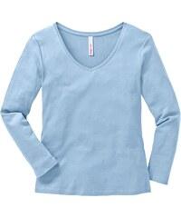 Sheego Casual Basic Shirt V Ausschnitt