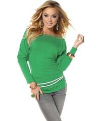 MELROSE DÁMSKÉ NÁVRHÁŘSKÉ TRIČKO MELROSE, dámské tričko zelené