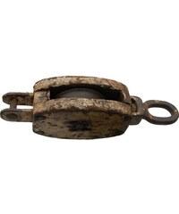 Industrial style, Hák ze železa a dřeva 10x44x15cm (414)