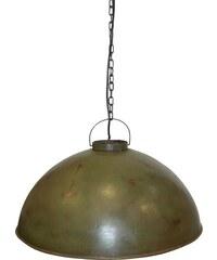 Industrial style, Velká závěsná retro lampa - zelená 30x52cm (497)
