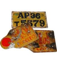 Industrial style, Staré poznávací značky 20x25x0,5cm (658)