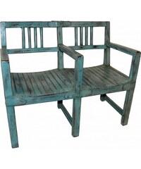 Industrial style, Vintage lavice - dvojkřeslo 30x172x24cm (663)
