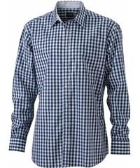 Pánská kostkovaná košile - Námořní modrá S
