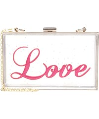 sweet deluxe Clutch gold/pink
