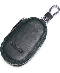 SAMMONS Zelené kožené pouzdro na klíče