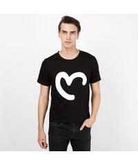 Lesara Pärchen-T-Shirt Herz-Print für Herren - M