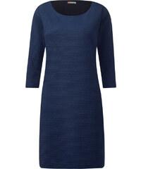 Street One Rippstruktur-Kleid Ina - blau, Damen
