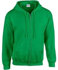 Pánská mikina na zip Gildan - Irská zelená L