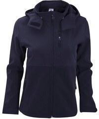 Dámská softshell bunda s kapucí - Námořní modrá XS