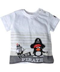Gelati Chlapecké tričko s tučňákem - bílé