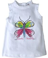 Gelati Dívčí tílko s motýlem - bílé