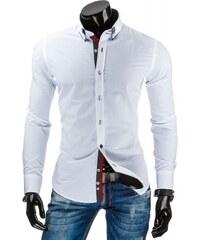 Pánská košile slim fit Catelyn bílá - bílá