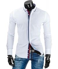 Pánská košile slim fit Davos bílá - bílá
