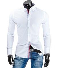Pánská košile slim fit Sandor bílá - bílá