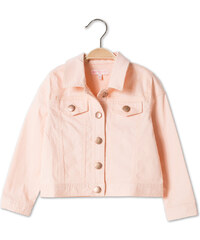 C&A Kurze Jeansjacke in zarter Pastell-Farbe in Rosa