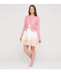C&A Ärmelloses Kleid mit Strickjacke als Set in weiß / Rosa