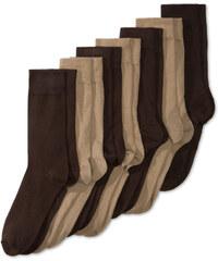 C&A Business-Socken aus Bio-Baumwolle in Braun