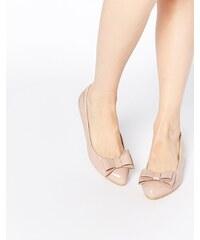 Glamorous - Ballerines vernies avec nœud - Rose clair - Rose