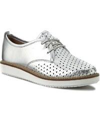 Halbschuhe CLARKS - Glick Resseta 261150064 Silver Leather