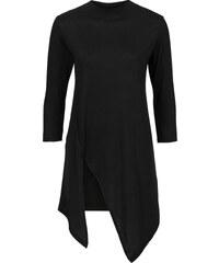 RAINBOW Top asymétrique noir manches 3/4 femme - bonprix