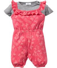 bpc bonprix collection T-shirt bébé + combinaison (Ens. 2 pces.) en coton bio, T. 56/62-104/110 gris enfant - bonprix