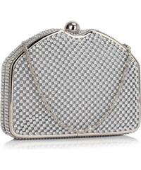 Luxusní stříbrné perleťové psaníčko LS Fashion Severina stříbrná