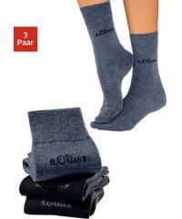 RED LABEL Bodywear Socken (3 Paar) außen mit Wolle Made in Germany S.OLIVER RED LABEL blau 35-38,39-42