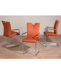 PREMIUM COLLECTION BY HOME AFFAIRE Premium collection by Freischwinger mit Armlehnen (2er 4er oder 6er Set) orange