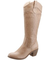Citywalk Sommerstiefel mit Cut Out Muster beige 36,37,38,39,40,41,42