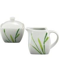CreaTable Milch/Zucker-Set Porzellan 2tlg. Amelie Gräser weiß