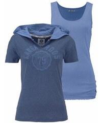 Damen Print-Shirt (Set 2 tlg. mit Top) KangaROOS blau 32/34 (XS),36/38 (S),40/42 (M),44/46 (L),48/50 (XL)
