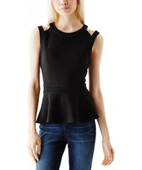 Guess Halenka Ellectra Textured Peplum Top