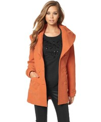 Buffalo DÁMSKÝ KABÁT S VELKÝM LÍMCEM BUFFALO, dámský kabát oranžový