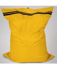 Sedací polštář Oskar s vnitřním vakem tmavě žlutá polyester