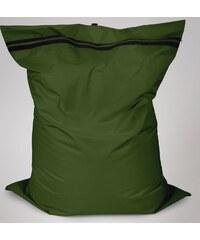 Sedací polštář Oskar s vnitřním vakem tmavě zelený polyester