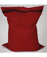 Sedací polštář Oskar s vnitřním vakem tmavě červený polyester